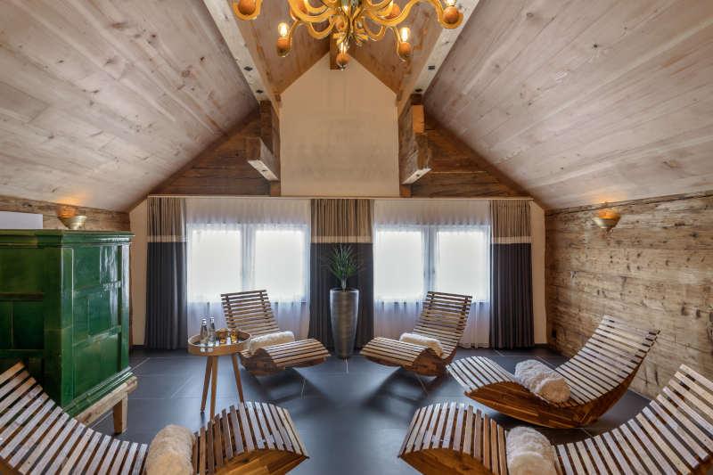 Wellness im Appenzell im Boutique Hotel Bären Gonten - Ruheraum